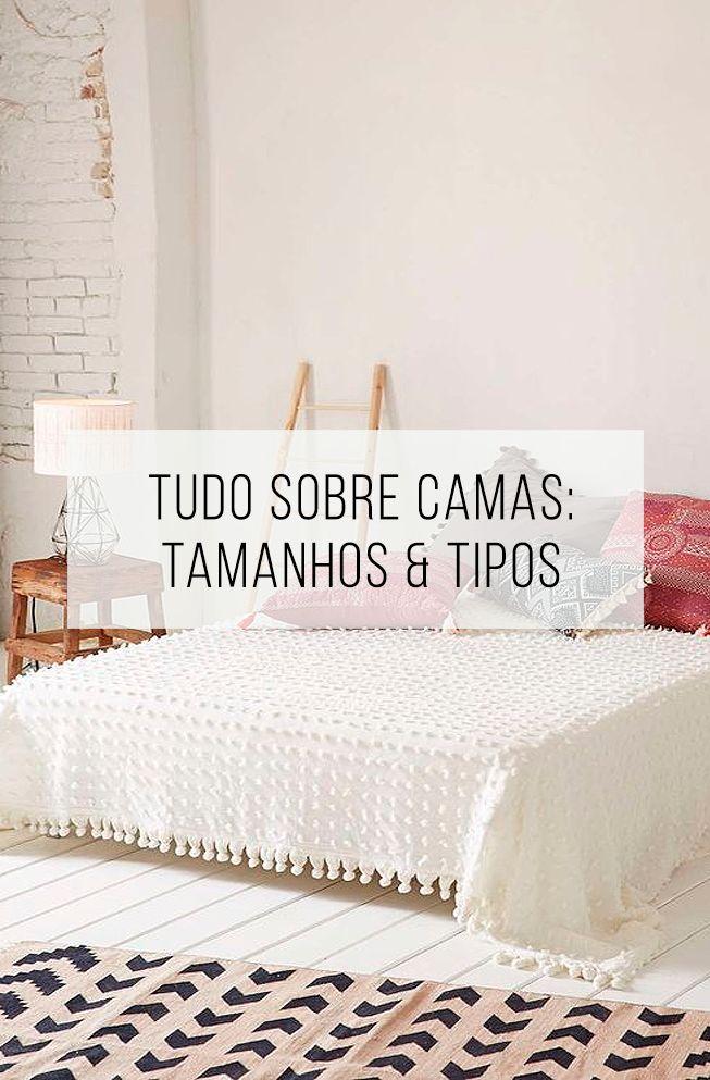 Conheça as medidas comuns das camas para saber qual é a ideal para você. // palavras-chave: dica, truque, medidas, cama, quarto, cama de casal, cama queen, cama king, decoração, casa.