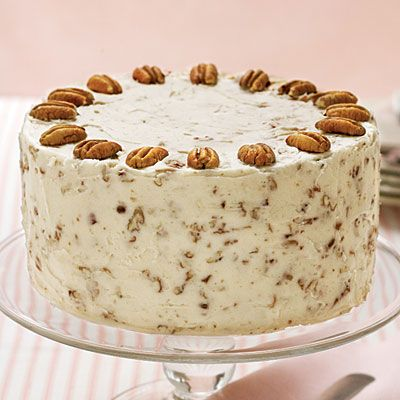 """Italian Cream Cake -  """"This cake will surely win rave reviews in your home with its sweet coconut flavors and Nutty Cream Cheese Frosting."""""""