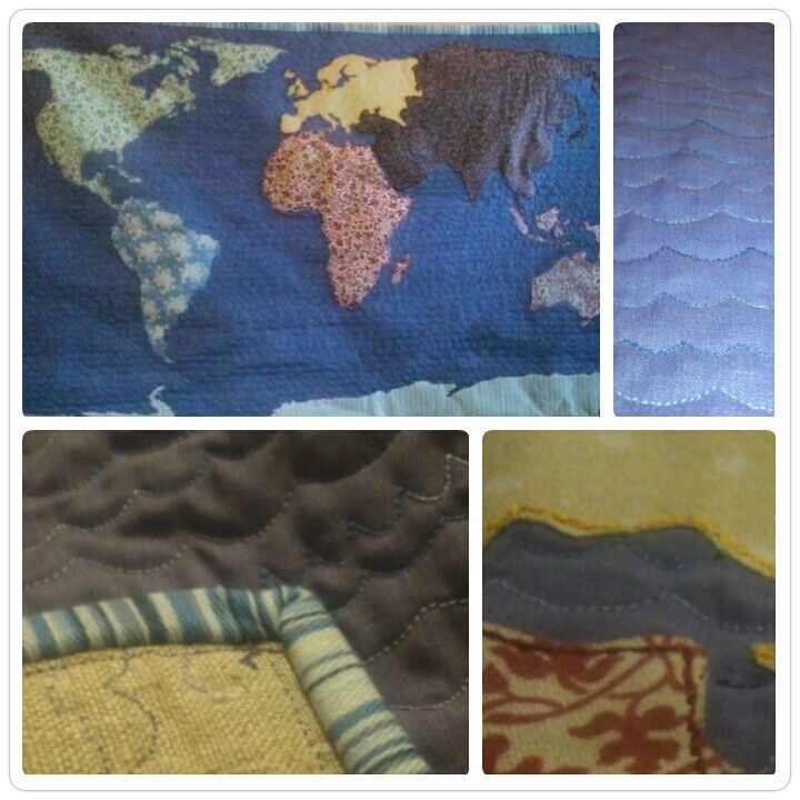 Map of the world quilt! Now just to sew the buttons on for where we've been!
