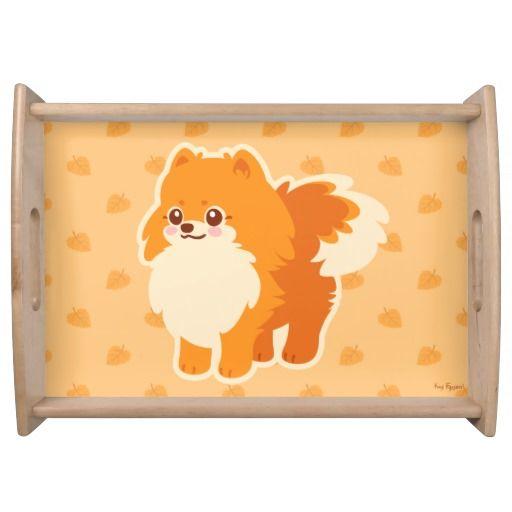 Kawaii Pomeranian Cartoon Dog Serving Trays