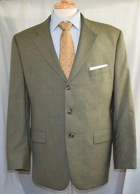 Chaps Ralph Lauren 100% Wool Sport Coat Blazer 44R Jacket Green Made in Canada