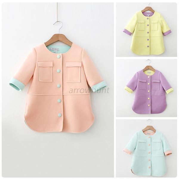 Toddler Girls Kids Half Sleeve Coat Outerwear Button Front Jacket Coat 1-6Y A24 #ZEHUI #BasicCoat #Holiday
