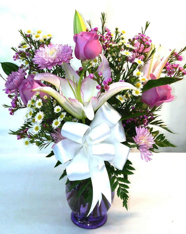 SAME DAY DELIVERY Lavender Sunshine Bouquet V-1059 - Fiesta Flowers Plants & Gifts--Grandma Ruth #FiestaFlowersPlants&Gifts