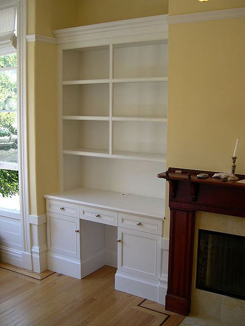 built in bookcase with desk Custom Cabinets & Trim Carpentry Houston Jared  Meadors by Medusa Properties
