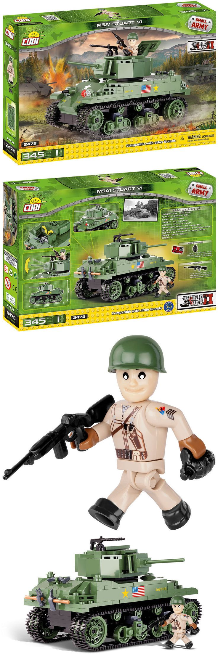 Other Building Toys 19015: Cobi M5a1 Stuart Vi Small Army Building Blocks (#2478) Wwii. Lego Compatible New -> BUY IT NOW ONLY: $34.95 on eBay!