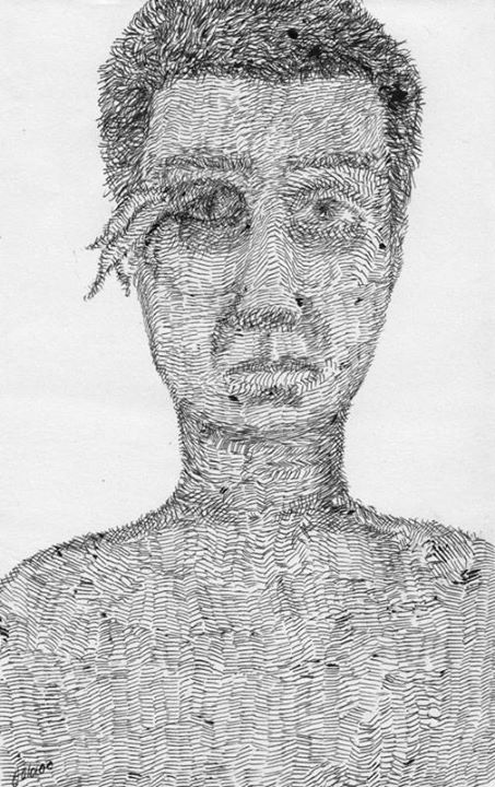 29x15cm Ball Pen on Cardboard By Mostafa Akbari © ▌2009 www.mostafaakbari.com