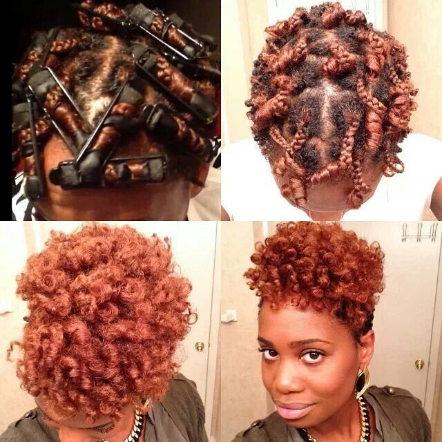 Braided and rolled on satin covered sponge rollers..MissKenk #haircrush