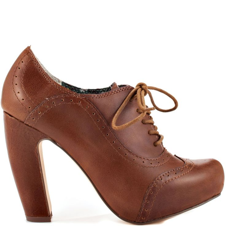 The room will only get hotter when you arrive!  Temperatures Risin by Seychelles delivers a soft cognac leather upper with lace up vamp and perforated details. A 4 inch heel and 3/4 inch hidden platform completes this simple favorite.