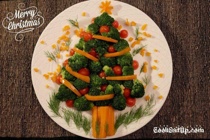 σαλάτα χριστουγεννιάτικο έλατο
