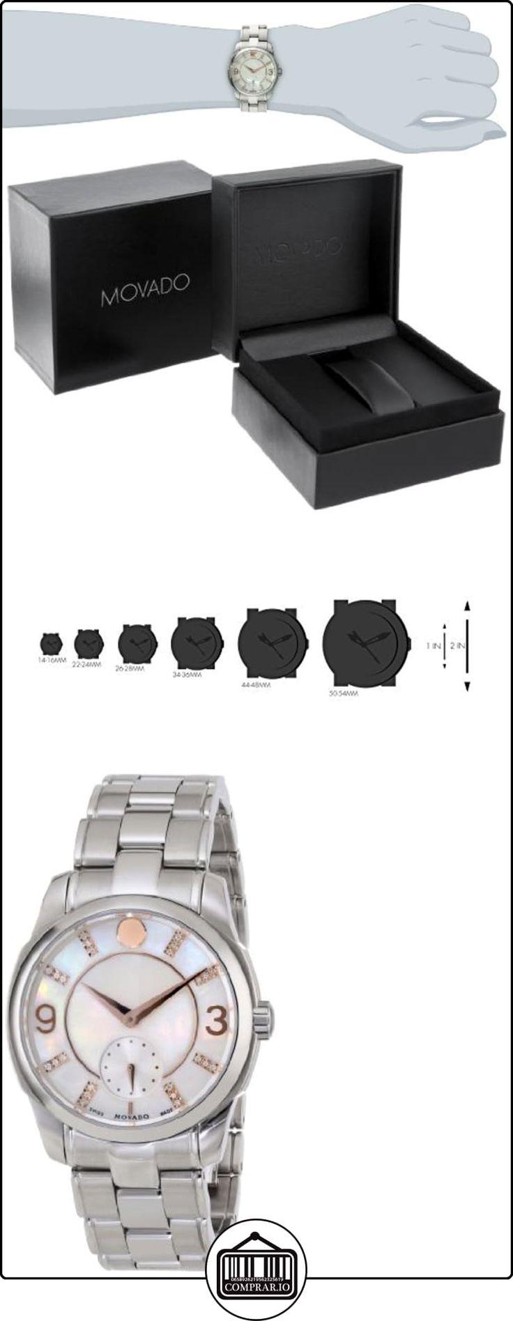 Movado LX Reloj de mujer cuarzo suizo 31mm analógico correa y caja de acero dial madreperla 0606619  ✿ Relojes para mujer - (Lujo) ✿