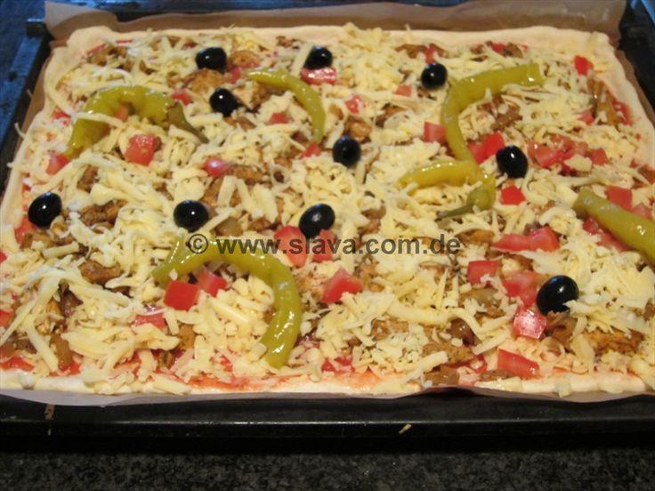 Saftige Gyros-Pizza
