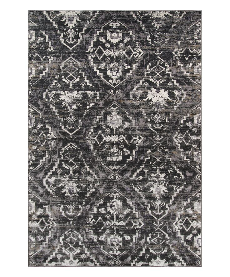 Charcoal Juliet Power Loomed Area Rug