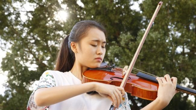 """Yaeji """"Tiffany"""" Son, a Lidcombe 16-year-old who is plays the viola in the Australian Youth Orchestra. Pictures: Dave Swift"""