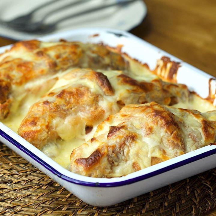 Croque Monsieur Croissant Lasagna - Cooking TV Recipes