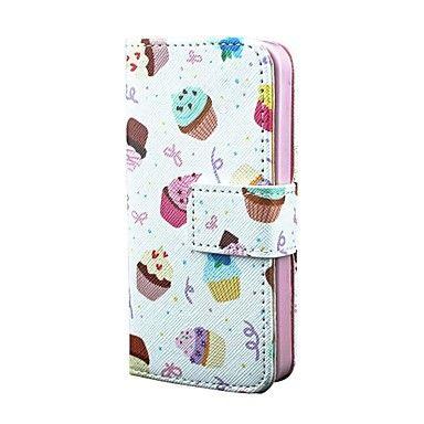 EUR € 8.63 - ijs taart pu leer full body case met kaart houder voor iPhone 5 / 5s, Gratis Verzending voor alle Gadgets!