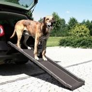 Hundramp Trixie Petwalk i plast. Smidig och lätt hundramp som kan vikas ihop. Bra halkskydd och lite högre kanter förhindrar att hunden halkar. Praktisk och smidig ramp för hund, maxbelastning 120 kg
