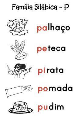 O Mundo da Alfabetização: Silabário - P e R