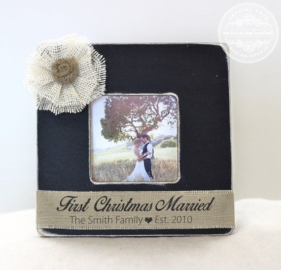 First Christmas Married Newlywed GIFT Wedding by CrystalCoveDS $27.95