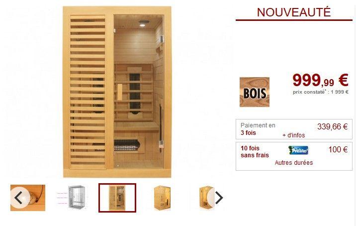 sauna infrarouge 2 places everett pas