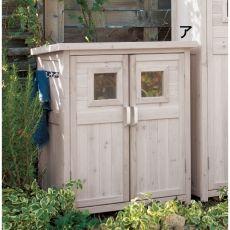 木製薄型収納庫 高さ92cm 写真