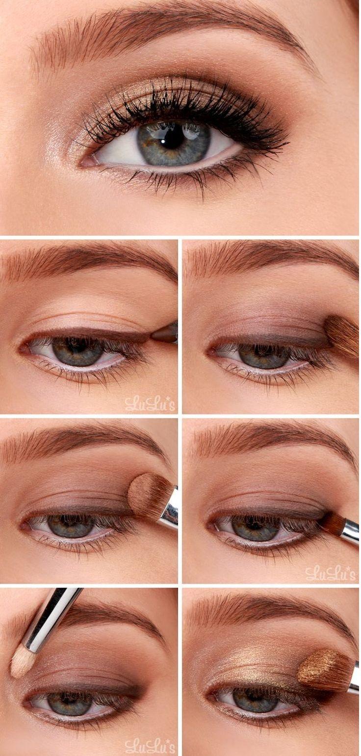 ¿Qué les parece este estilo de #maquillaje con sombras #doradas? Encuéntralas aquí.