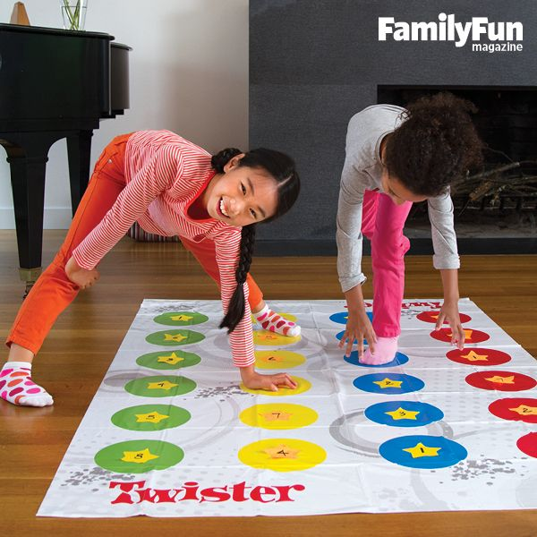 Twist and Count: Got an old Twister game in the closet? Give it a smart new lease on life by playing Twisted Math. Write numerals on sticky notes and set them on the dots at random. Call out a number, then challenge kids to place their hands and feet on a set of numerals that can be made to equal that number using addition, subtraction, or multiplication.