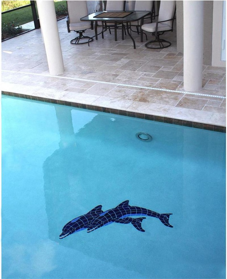 35 best mosaics in pools images on pinterest pool mosaics swimming pools and mosaic tiles for Poole dolphin swimming pool prices