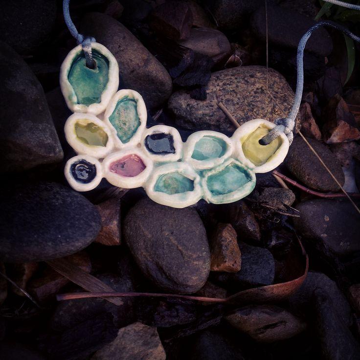 handmade ceramic Necklace by SaSuDesigns