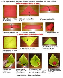 70 best images about pliage de serviette on pinterest - Plier serviette de table ...