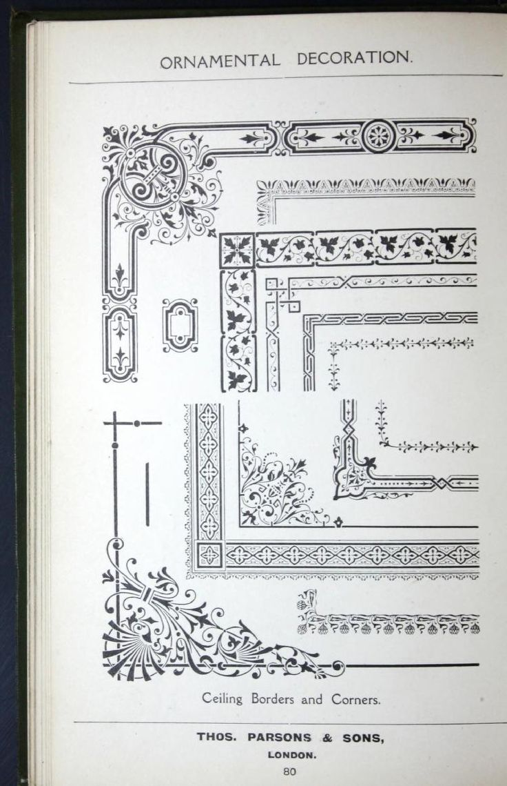A few suggestions for ornamental decoration : a collection of designs & colour schemes for painters' and decorators' work / compiled by F. Scott Mitchell. by Thos. Parsons & Sons 1908