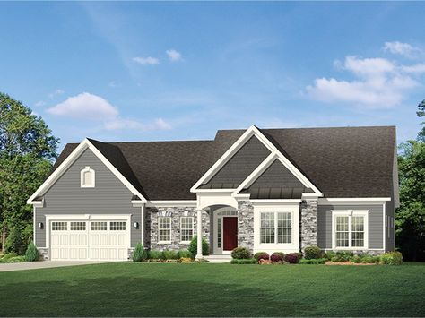 eplans ranch house plan deep garage for extra storage 2006 square feet and 3 - Ranch Home Exteriors