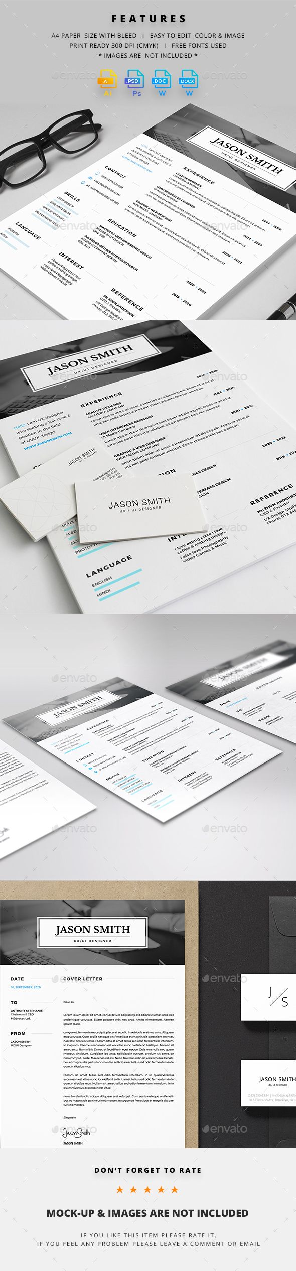 Resume #simple #presentation  • Download here → https://graphicriver.net/item/resume/21006441?ref=pxcr