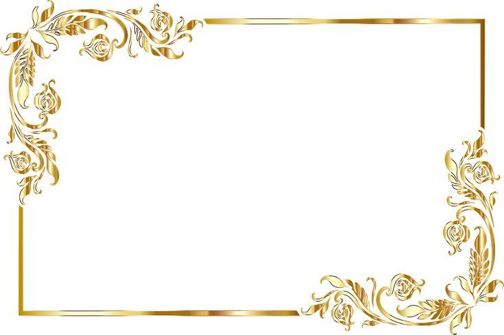 Free Image On Pixabay Frame Border Gold Line Art Line Art Floral Invitations Template Frame Border Design