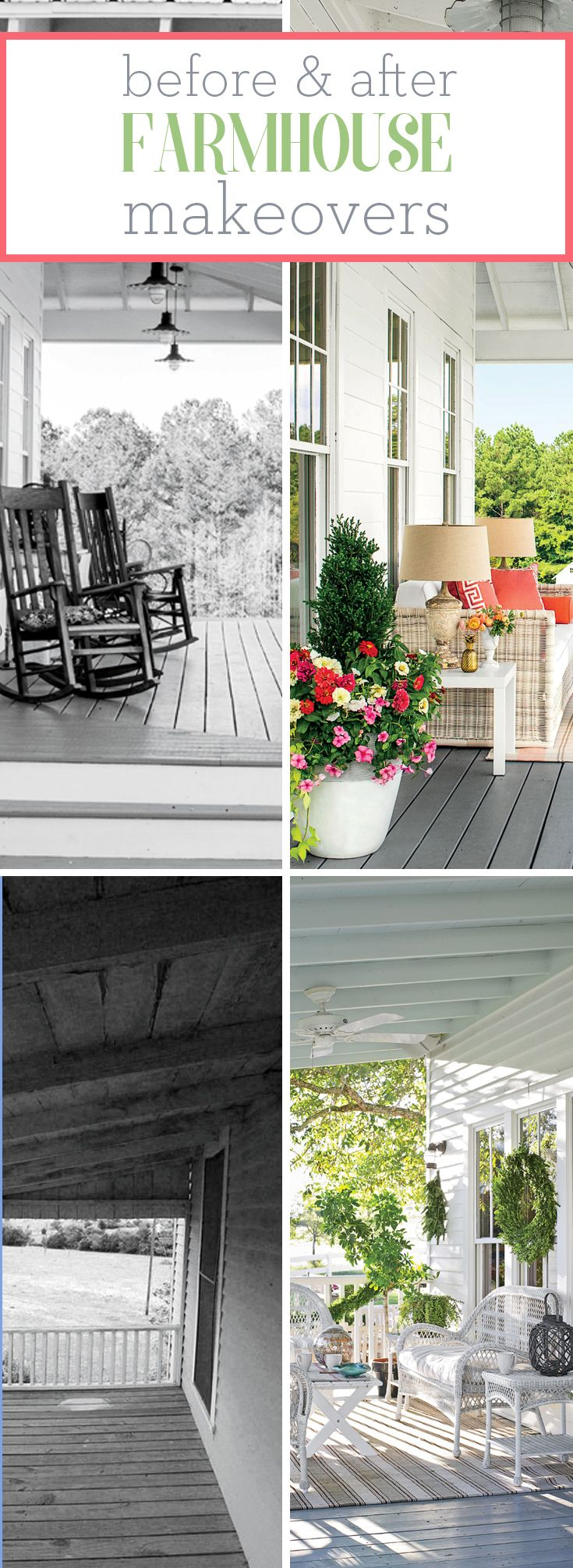 Idea 3 charm with new finishes before amp after family beach homes - Stunning Farmhouse Before And After Makeovers
