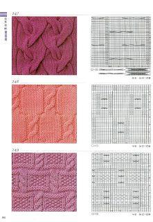 Вязание крючком и спицами/Crochet and knitting: Узоры спицами - в копилку