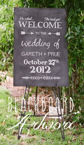 This board, plus more, has been moved to pinterest.com/bbartworx Wedding Welcome blackboard. To see more visit www.blackboardartworx.com.au