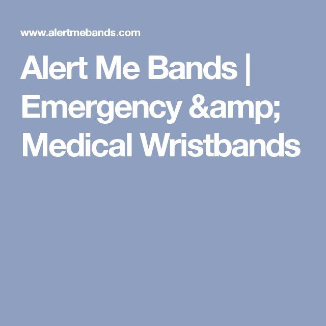 Alert Me Bands | Emergency & Medical Wristbands