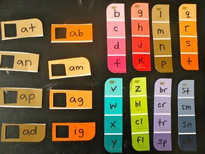 SwellChel: {Learning at Home} : Paint chip activities with Rhyming Word Families