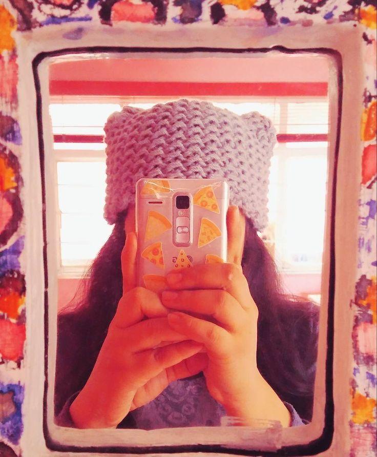 Loomed kitty hat by @araantxaa