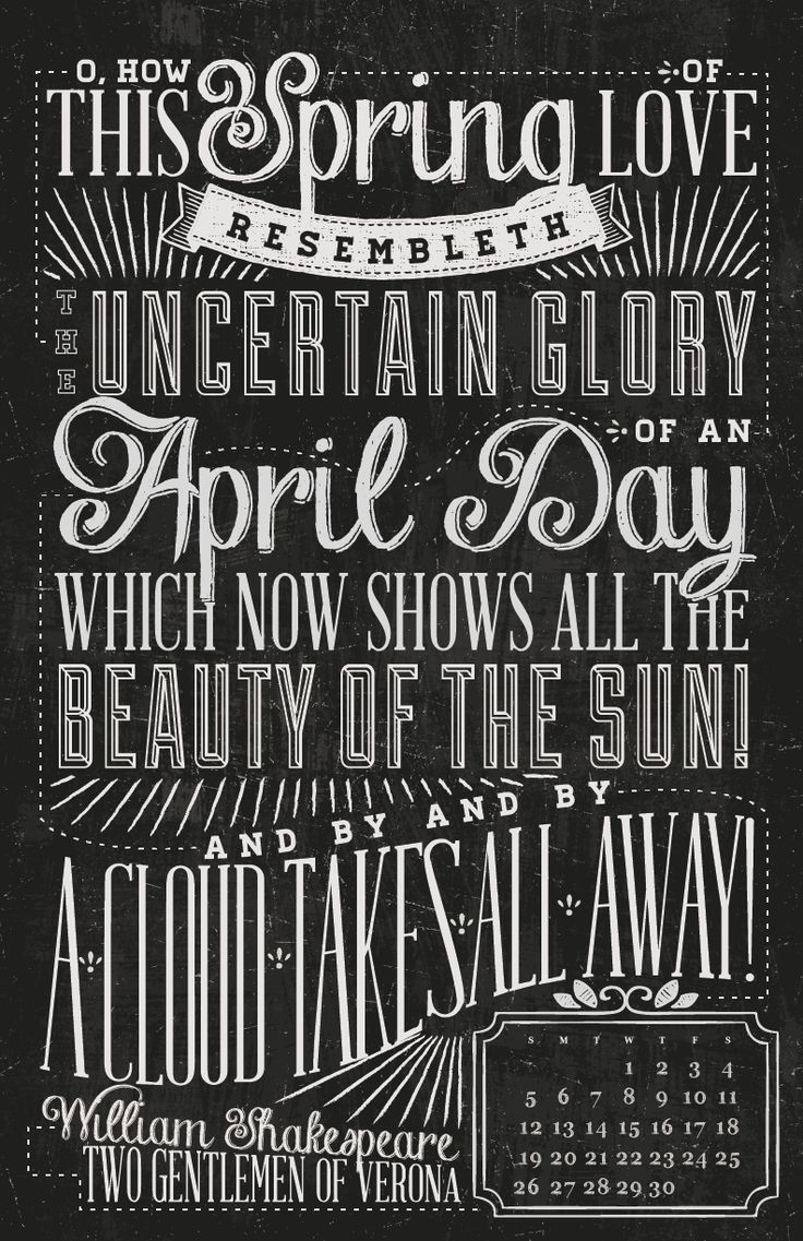 Calendar Typography S : Best images about quotable chalkboard typography