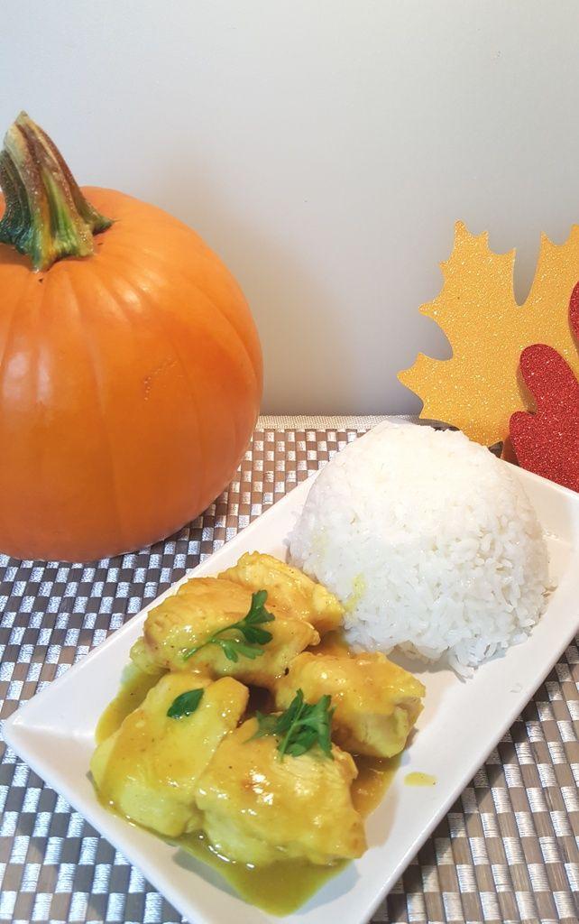Pressure Cooker Pumpkin Curry Chicken Image