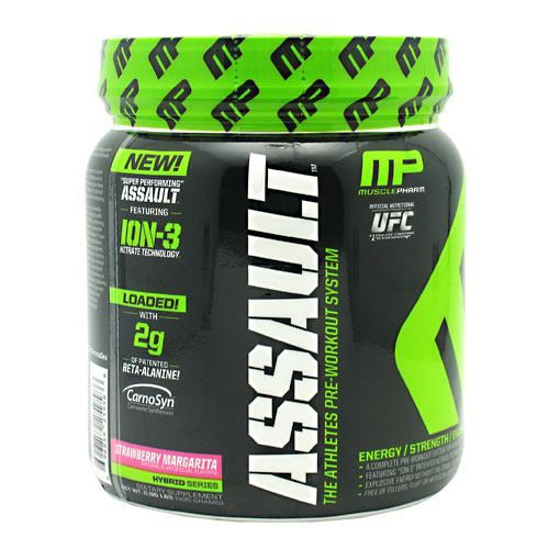 Hybrid Series Assault, Strawberry Margarita 30 servings; MusclePharm, Pre-Workout #bodybuilding #sport #sportsnutrition #gym #pre-workout https://monsternbeast.com/shop/hybrid-series-assault-strawberry-margarita-30-servings-musclepharm-pre-workout/