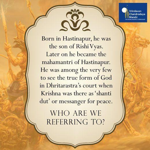 Who are we referring to?  a) Vibhishan b) Shalya c) Bali d) Vidur