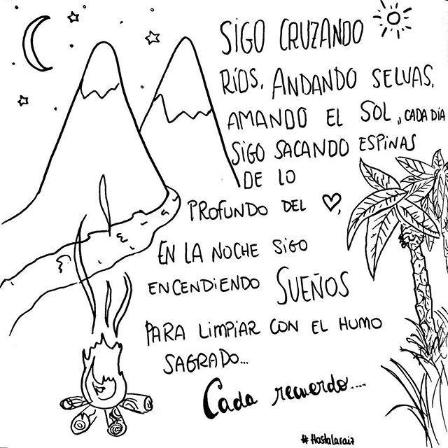 Ilustración sobre una preciosa canción de natalia lafourcade... me encanta . . . . . by pelaeldiente