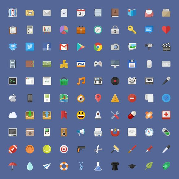 I just released Epic Flat 510+ icon set on Creative Market.