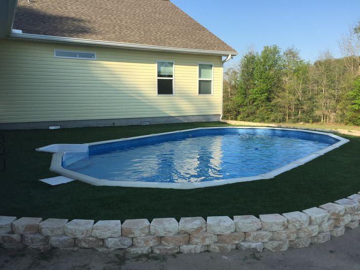 Above Ground Pool Decks For Sale >> Sunken Above ground pool | Swimming Pool | Pinterest | Ground pools, Above ground pool and Pools