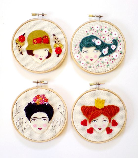 New stuff I've been working on by Yalipaz - Art and accessories on Flickr - embroidery wall art