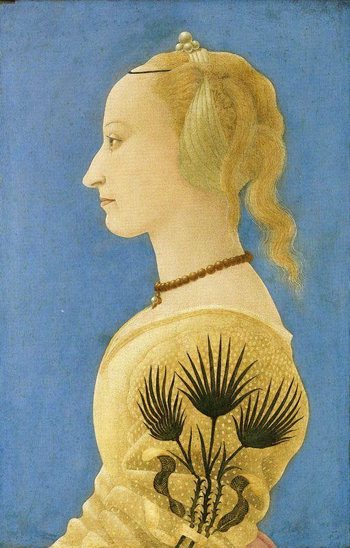 london aug2012 - Portrait of a lady in yellow - Baldovinetti