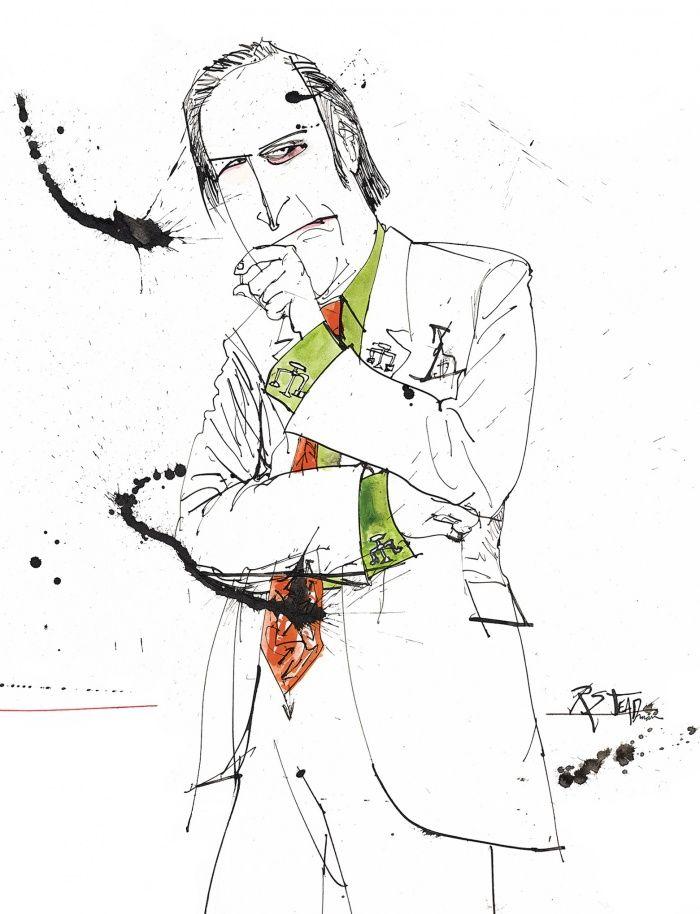 Saul Goodman - Breaking Bad Ralph Steadman Illustration