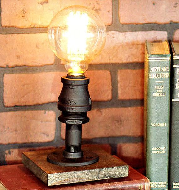 This industrial chic accent lamp will add style to any room in your home or office! This lamp has a classic industrial look and is mounted on a